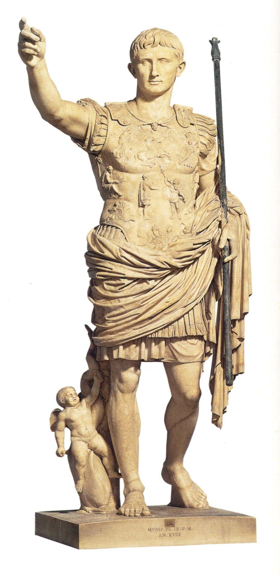 "augustus of prima port an imperial deification The roman statue known as the ""augustus of prima porta"" is a remarkably  powerful piece of early imperial ""propaganda""  paramour venus (goddess of  love), as well as a statue of the recently deified julius caesar himself."