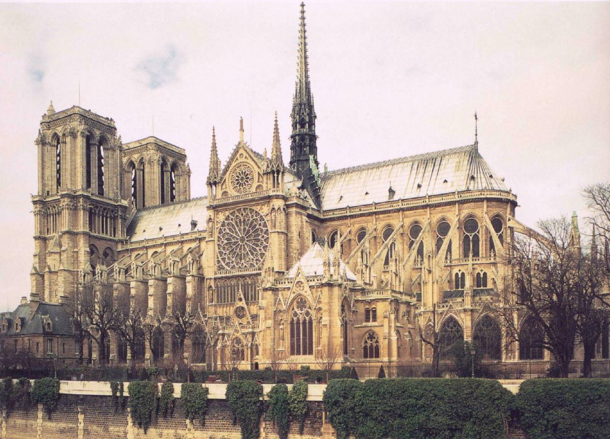 The Chartres Cathedral And Town Of