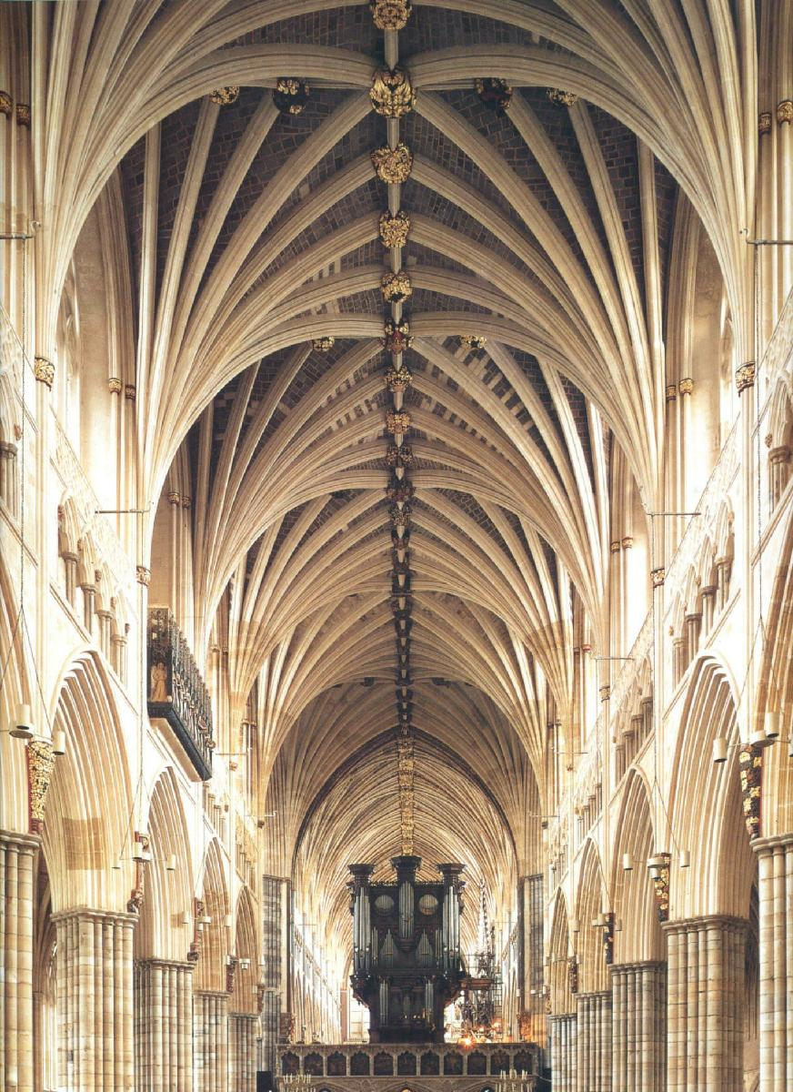 Vaults Of The Nave Exeter Cathedral C 1280 1290
