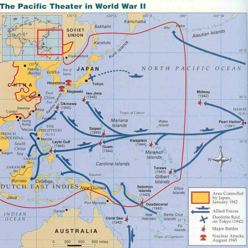 War in the Pacific - By Miles Hodges